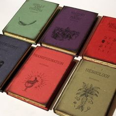 Journals that look like Harry Potter textbooks. Love it!