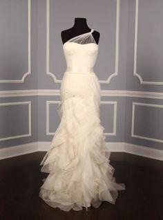 Vera Wang sheer wedding gown- I love sheer.