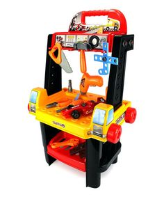 Another great find on #zulily! Two-in-One Rolling Cart & Workbench Play Set #zulilyfinds