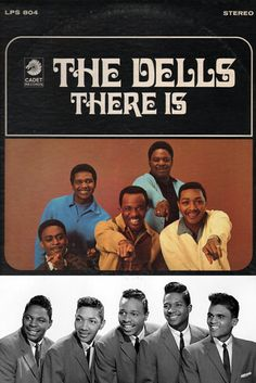 """The Dells """"There Is"""" (1968) — 45 rpm Record Sleeve — Hear it in my board, """"My Music: The Guys"""". Founding Members: Johnny Carter, Marvin Junior, Mickey McGill, Verne Allison & Chuck Barksdale"""