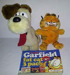 Garfield & Odie Dog Fun Farm Plush Animals Fat Cat 3 Pack Comic Book Jim Davis