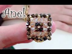 Tutorial Anillo, Bracelet Tutorial, Diy Tutorial, Diy Beaded Rings, Diy Rings, Diy Jewelry Inspiration, Beaded Jewelry Patterns, Homemade Jewelry, Beads And Wire