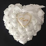 Lace Heart Shape With Rose and Bow Ring Box Pillow for Wedding(Morewedding dress lace overlay, online shopping wedding dress lace overlay, Retail wedding dress lace overlay from LightInTheBoxThe Wedding Store Ring Bearer Pillows, Ring Pillows, Beach Theme Garden, Wedding Crafts, Wedding Decorations, Wedding Centerpieces, Old Wedding Dresses, Ring Pillow Wedding, Cushion Ring