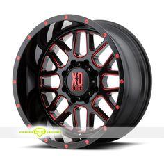 XD Series XD820 Grenade Black Milled Red Wheels For Sale & XD Series XD820 Grenade Rims And Tires