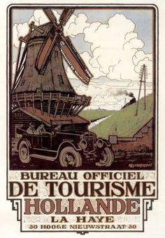 Holland Tourism Bureau promotion windmill 1930's