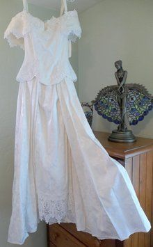 1990 Jessica McClintock Wedding Gown Ivory Victorian Steampunk
