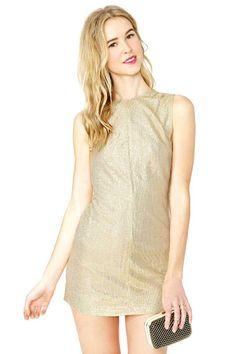Golden Ticket Dress #vintage #nastygalvintage