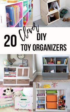 creative toy Love these DIY toy organizer ideas for children! Perfect for playroom or living room. Use storage bins, store hot wheels, stuffed animals, board games, toy bins. storage ideas for everything! Creative Toy Storage, Diy Toy Storage, Storage Ideas, Storage Baskets, Game Storage, Toy Storage Organizer, Storage Bins For Toys, Hot Wheels Storage, Smart Storage