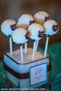 Baby Lamb Themed Boy's Baptism or Christening - Spaceships and Laser Beams