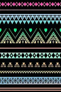 Black Neons Lacey Aztec Print Wallpaper Ok Where Else Have You Seen ANYTHING Like