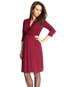 Our signature Seraphine knot front maternity dress is now available in stunning claret red - perfect for before, during and after pregnancy. Maternity Wear, Maternity Dresses, Maternity Fashion, Pregnant Dresses, Pregnancy Dress, Maternity Styles, Pregnancy Style, Maternity Clothes Online, Nursing Clothes