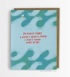 I Didn't Know What To Say Empathy Cards For Serious Illness