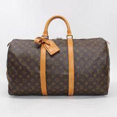 Louis Vuitton Keepall 50 Monogram Handle bags Brown Canvas M41426
