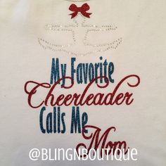 Show support for your favorite cheerleader with this cute shirt. The words are in your choice of glitter colors with a cheerleader doing a toe touch on top wearing a matching bow. Add your cheerleader Cheerleading Quotes, Cheer Quotes, Cheerleading Gifts, Cheer Gifts, Cheer Bows, Varsity Cheer, Football Cheer, Football Signs, Cheer Mom Shirts