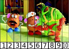 puzzle de numeros 1-10 hello TOY STORY