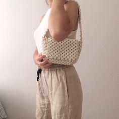 Macrame Bag, Macrame Jewelry, Cotton Rope, Cotton Fabric, Trendy Fashion, Trendy Style, Diy Handbag, Boho Bags, Crochet Handbags