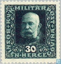 1916 Austria-Hungary - Bosnia and Herzegovina - Franz Joseph I