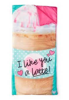 Latte Sleeping Bag (original price, $39.90) available at #Justice