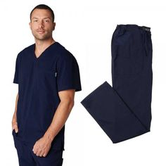 Koi Lite Men's Set in Navy. This athletic-style set is made from super soft, durable, lightweight fabric. The set is moisture wicking and breathable giving you excellent movement and comfort. Athletic Style, Athletic Fashion, Dental Scrubs, Medical Uniforms, Man Set, Scrub Sets, Koi, Stretch Fabric, Perfect Fit