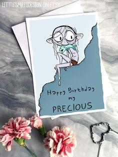 Happy Birthday Honey, Birthday Wishes For Friend, Funny Cards, Lotr, The Hobbit, Watercolour, Fun Stuff, Birthday Cards, Fandom