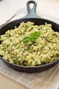 quick 40 minute Creamy Pesto Risotto recipe
