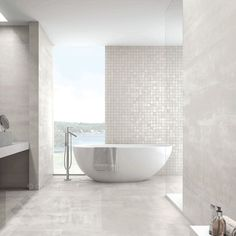 Ionic White Bathroom Wall Tiles supplied by Tile Town. Discounted Slate Effect Wall & Floor Tiles.