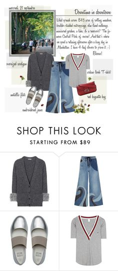 """""""Mon Style № 103 - September 21, 2016"""" by ann4-kar1na ❤ liked on Polyvore featuring Christopher Kane, RED Valentino, FitFlop, P.E Nation and Fendi"""