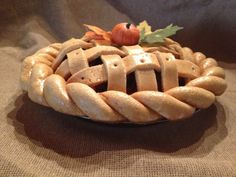"9"" Salt Dough Pumpkin Potpourri Pie"