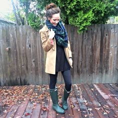 Must have green Hunter boots!