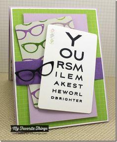 Geek Is Chic, Geek Is Chic Glasses Die-namics, Eye Charts, Grid Background - Jodi Collins #mftstamps