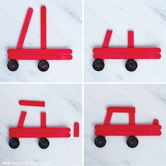 how to make the truck ornament christmas ornaments for kids DIY Car and Truck Popsicle Stick Christmas Ornaments - Fun Loving Families Kids Christmas Ornaments, Preschool Christmas, Christmas Activities, Christmas Projects, Christmas Fun, Holiday Crafts, Christmas Decorations, Diy Ornaments, Christmas Crafts With Kids