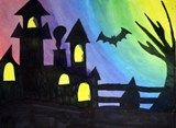 Artsonia Art Exhibit :: Sixth Grades Halloween Silhouette