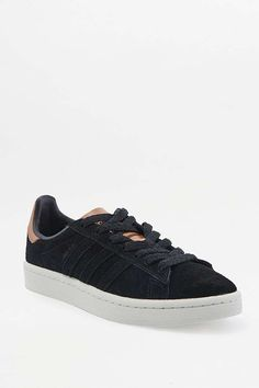 low priced 94654 c864b adidas Originals Black and Brown Campus Trainers