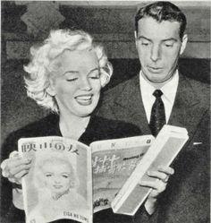 Marilyn Monroe and Joe DiMaggio in Korea(1954)