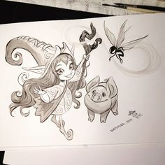 #inktober2015 #lululeagueoflegends #lulu #day5
