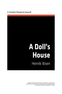 A Doll's House by Henrik Ibsen | eNotes Student Response Journal