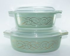 Golden Scroll Vintage Pyrex Casseroles....