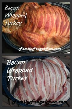 Try this bacon wrapped turkey if you're looking for new and simple Thanksgiving Dinner Menu ideas this year. It keeps the turkey delicious, flavorful and VERY moist!