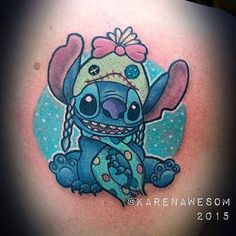 Love this Stitch piece done by @karenawesom #inkeddisney