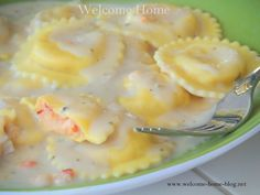 Welcome Home: ♥ Lobster Ravioli in a Lobster Cream Sauce