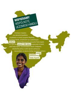 Nasze drewniane masażery oraz akcesoria bawełniane pozyskiwane w ramach programu Wspólnoty Uczciwego Handlu, produkowane są w południowych Indiach.