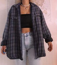 Boyfriend karohemd tomboy outfit idee nervse mode outfit laura erster schultag cuteoutfitsforsummer laura erster schultag source by dresses fashion outfits Outfits Casual, Cute Comfy Outfits, Indie Outfits, Teen Fashion Outfits, Retro Outfits, Look Fashion, Cool Outfits, 90s Fashion, Flannel Outfits Summer