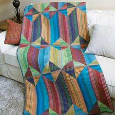 Sedona Stripes: Easy Modern Full Size Quilt Pattern (wonder what Delectable Mtns would look like in stripes like these?)