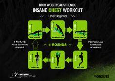 Insane Chest Workout | bodyweighttrainingarena.com #workouts #bodyweight