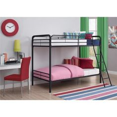 How To Choose White Metal Bunk Beds - Metal bunk beds are a modern version of a traditional favorite. Bunk beds can help you save space and add an White Bunk Beds, Modern Bunk Beds, Metal Bunk Beds, Cool Bunk Beds, Twin Bunk Beds, Kids Bunk Beds, Triple Bunk Beds, Kids Sofa, Kids Bedroom Furniture
