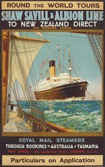 #ShawSavillLine poster, C. #1930s.