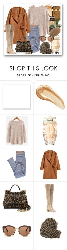 """Fuzzy Chunky Knit Sweater"" by cicamaca86 ❤ liked on Polyvore featuring St. John, Charlotte Tilbury, Cartier, Cheap Monday, H&M, Dolce&Gabbana, Gianvito Rossi, Marni, polyvoreeditorial and shein"