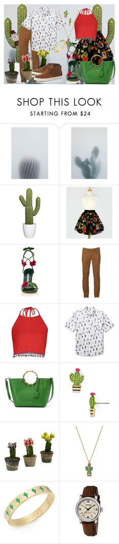 """""""Cactus Couple"""" by nerd-muffin ❤ liked on Polyvore featuring Manolo Blahnik, Urban Pipeline, Boohoo, Thorsun, Dana Buchman, Kate Spade, Nearly Natural, Wenger and Lacoste"""
