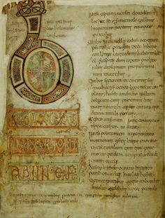 Opening page of Bede's Eccesiastical History, England (Southumbria), c. 800-850, Cotton MS Tiberius C II, f. 5v