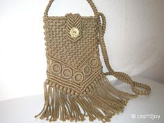Handmade macrame purse by craft2joy on Etsy